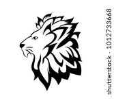 abstract lion  template logo... | Shutterstock .eps vector #1012733668