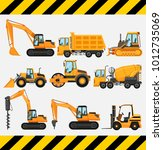 different types of construction ... | Shutterstock .eps vector #1012735069