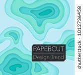 papercut layers on white paper. ... | Shutterstock .eps vector #1012736458