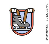 ice hockey badge logo isolated... | Shutterstock .eps vector #1012738798