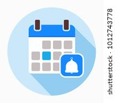 calendar with bell icon vector  ...   Shutterstock .eps vector #1012743778