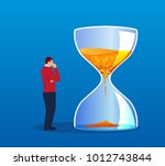 businessman thinking about the... | Shutterstock .eps vector #1012743844