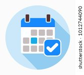 calendar icon vector  filled... | Shutterstock .eps vector #1012744090