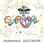welcome to carnaval. invitation ... | Shutterstock .eps vector #1012746199