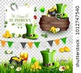 st. patrick's day scrapbook... | Shutterstock .eps vector #1012747540