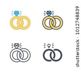 wedding ring icon vector | Shutterstock .eps vector #1012748839