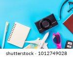 travel planning accessories ... | Shutterstock . vector #1012749028
