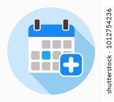 new event icon. add calendar... | Shutterstock .eps vector #1012754236