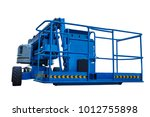 boom lift with a telescopic arm ... | Shutterstock . vector #1012755898