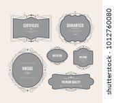 vintage ormament frame design... | Shutterstock .eps vector #1012760080