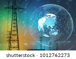 smart grid and global network... | Shutterstock . vector #1012762273