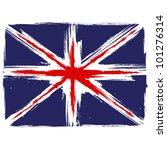 grunge union jack flag over... | Shutterstock .eps vector #101276314