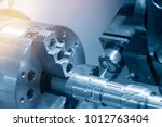 close up of the cnc lathe ... | Shutterstock . vector #1012763404