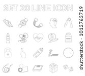 gym and training outline icons...   Shutterstock . vector #1012763719