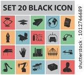 equipment and machine black... | Shutterstock . vector #1012766689