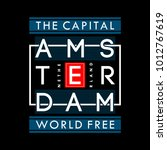 amsterdam typography t shirt... | Shutterstock .eps vector #1012767619