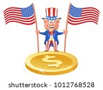 funny uncle sam holding... | Shutterstock .eps vector #1012768528