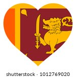 sri lanka flag in heart vector... | Shutterstock .eps vector #1012769020
