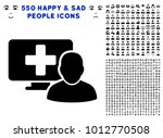 computer doctor pictograph with ... | Shutterstock .eps vector #1012770508
