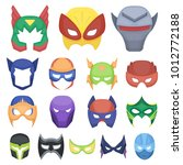 carnival mask cartoon icons in... | Shutterstock . vector #1012772188