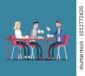 businessmen having coffee break ... | Shutterstock .eps vector #1012772620