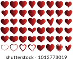 red heart vector icon... | Shutterstock .eps vector #1012773019
