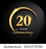 20 years anniversary... | Shutterstock .eps vector #1012773730