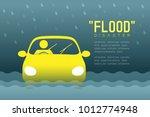 flood disaster of man icons... | Shutterstock .eps vector #1012774948