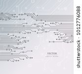 circuit board  technology... | Shutterstock .eps vector #1012776088