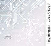 circuit board  technology...   Shutterstock .eps vector #1012776094