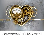 mechanical heart with manometer ... | Shutterstock .eps vector #1012777414