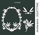 marijuana  cannabis logo... | Shutterstock .eps vector #1012777960