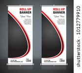 roll up banner design template  ... | Shutterstock .eps vector #1012779910
