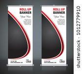 roll up banner design template  ... | Shutterstock .eps vector #1012779910