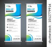 roll up banner design template  ... | Shutterstock .eps vector #1012779916