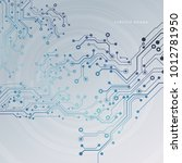 circuit board  technology... | Shutterstock .eps vector #1012781950