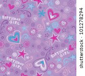seamless birthday pattern with...   Shutterstock .eps vector #101278294