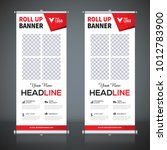roll up banner design template  ... | Shutterstock .eps vector #1012783900