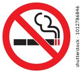 no smoking sign | Shutterstock .eps vector #1012786846