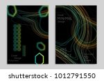 abstract banner template with... | Shutterstock .eps vector #1012791550