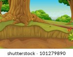Illustration Of A Dirt Path In...