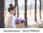 portrait of young asian bride... | Shutterstock . vector #1012798924