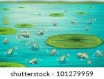 Illustration Of Fish Jumping In ...