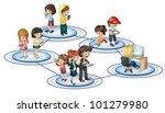illustration of social network... | Shutterstock .eps vector #101279980