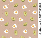 seamless pattern with egg and... | Shutterstock .eps vector #1012800070