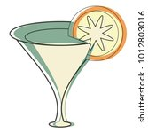 cocktail drink icon | Shutterstock .eps vector #1012803016