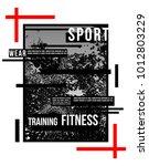 t shirt design sports athletic... | Shutterstock .eps vector #1012803229