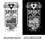 t shirt design sports athletic... | Shutterstock .eps vector #1012803238