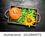 green peas with pumpkin and... | Shutterstock . vector #1012804573