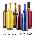 Bottles Wine Isolated White - Fine Art prints
